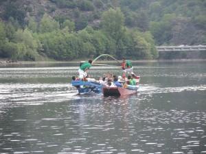 Passe de joute lors de la fête nautique 2014