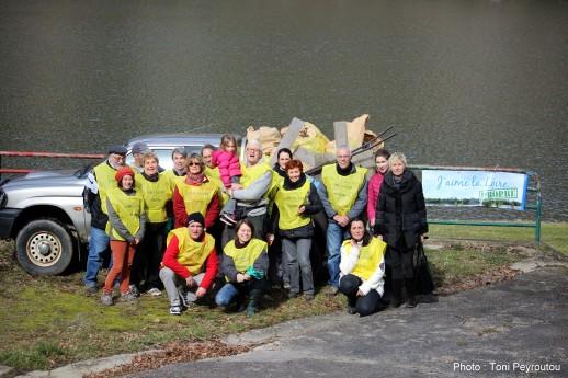 J'aime la Loire Propre 2015 US Vigie Mouette 29 bénévoles, 6 m3 de détritus