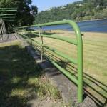 Barrières du bas en vert fougère