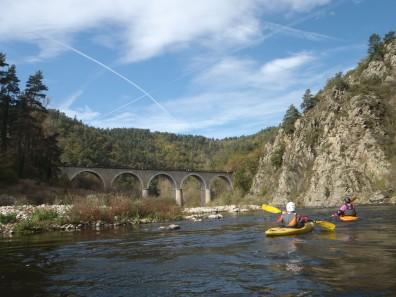 Kayakistes du CKCF en Haute Loire