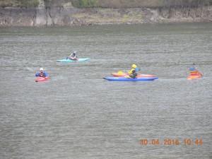 Sortie kayak 7°C sous la pluie