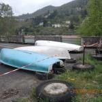 6 voiliers déplacés du terrain de pétanque à la dalle du hangar